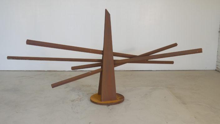 "Raonke, 2016. Steel, Patina, 45"" x 97"" x 49"""