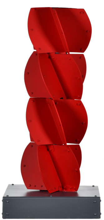 Juguete Andino, 1988. Painted aluminum, 39 × 17 3/4 × 17 3/4 in