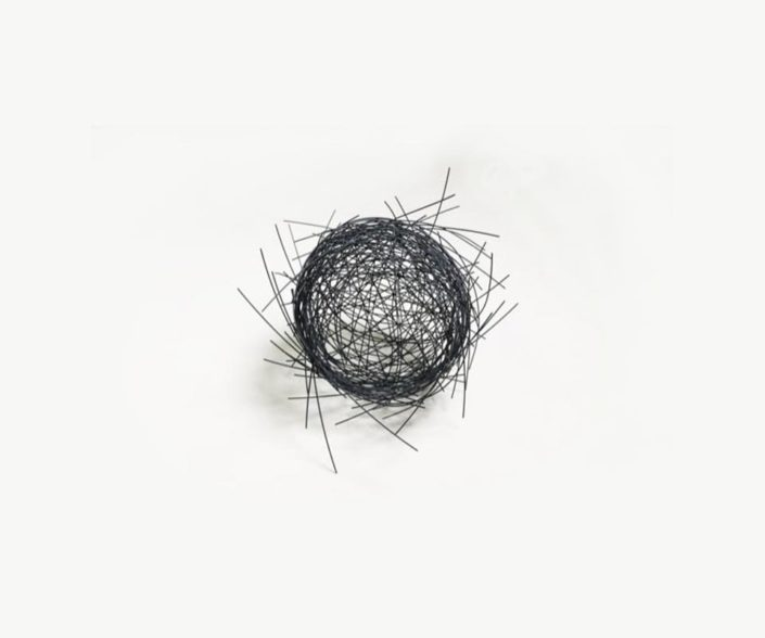 Nido Grafito, 25.6 Diameter x 28.6 Depth cm, stainless steel, 2018