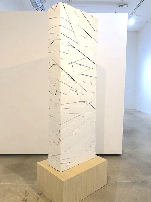 Columna Blanca, 178 x 61 x 23 cm, painted aluminum, 2017