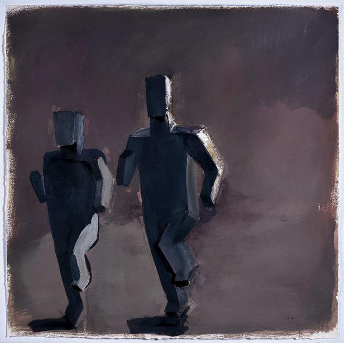 Two Mens Running - HANDMADE